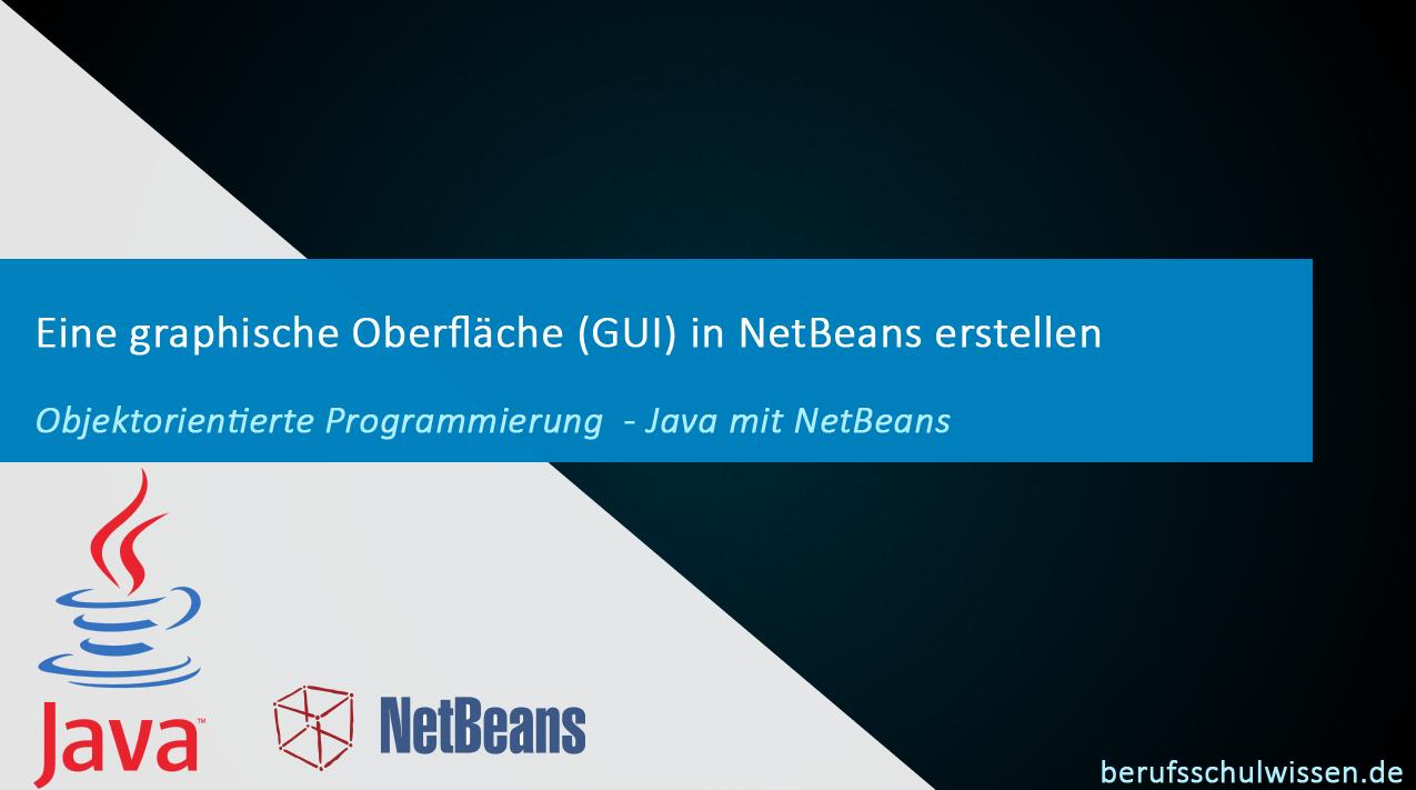 NetBeans Lernvideo GUI erstellen